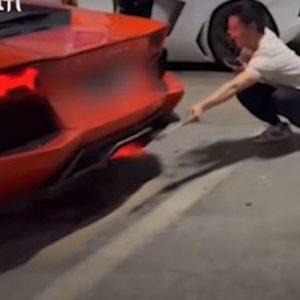 📹 Китаец пробва да изпече месо на Lamborghini